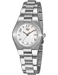 Tissot T0432101111700 - Reloj analógico de mujer de cuarzo con correa de acero inoxidable plateada