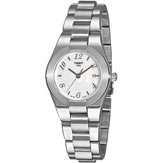 Tissot T0432101111700 – Reloj analógico de mujer de cuarzo con correa de acero inoxidable plateada