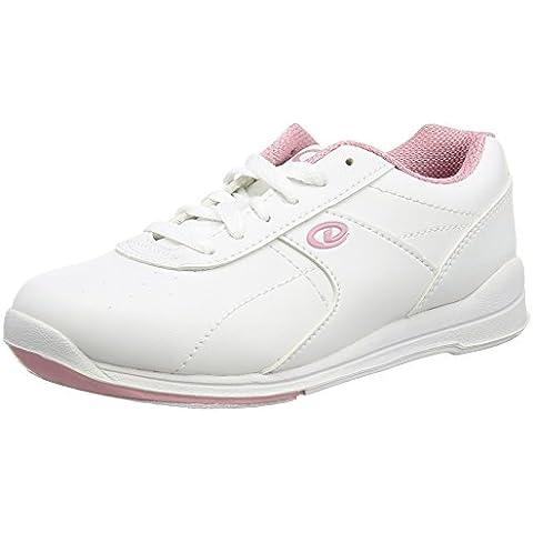 Dexter Dexter Raquel III - Calzado de bolos para mujer, color blanco / rosa, talla US 6, UK 3.5