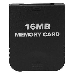 WiCareYo Schwarz 16M Speicherkarte für Wii NGC Gamecube Konsole