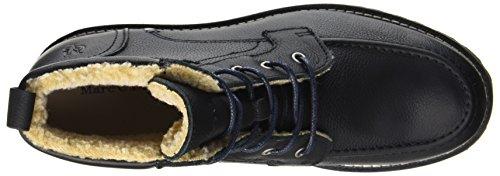 Marc OPolo Lace Flatheel Bootie 70920036301109, Stivali Militari Uomo nero (nero)