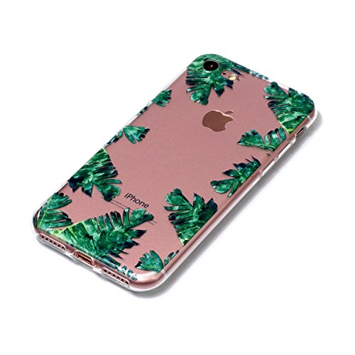 iPhone 8 7 Custodia, SportFun Slim Flexible TPU Custodia Protettiva in silicone per iPhone 8 7 Case gufo Crisantemo cavallo (Hirsch) Bananenbaum