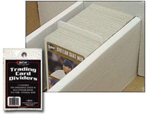 10 BCW Trading Card Dividers - Kartentrenner - Deck Divider - Magic - Yu-Gi-Oh! (Card Box Deck Weiß)