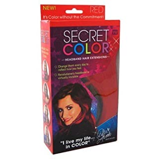 Secret Color Headband Hair Extensions Red by Allstar Marketing Group