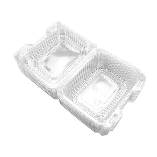 TOPINCN Einweg Mahlzeit Box Set Transparent BPA Frei Schnappverschluss für Kuchen Cupcakes Obst Geburtstag Party Paket Boxen Lagerbehälter 50 stücke