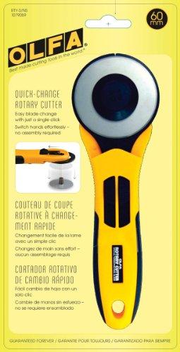 Olfa - Cortador giratorio (60mm), color amarillo