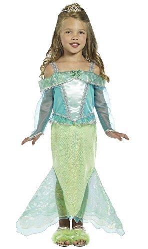 mädchen-grün Meerjungfrau Prinzessin Ariel Film TV Comicfigur büchertag Märchen Märchen Kostüm Kleid Outfit - Grün, 4-6 Years