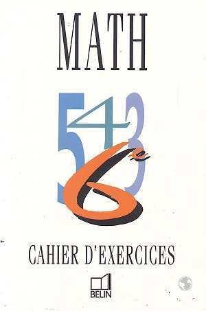 Mathématiques, classe de 6e (cahier d'exercices)