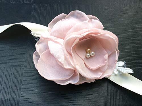 Brautgürtel Satinblumen Blumengürtel