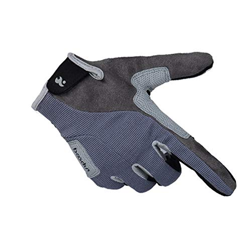 Blisfille Handschuhe Kletternden Handschuhe Lange Finger Handschuhe Abseilausrüstung Abseilen Trägt Rutschfeste Handschuhe Im Freien Grey Size Large -