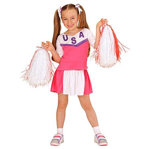 Imagen de disfraz animadora rosa y blanco niña  de 8 a 10 años alternativa