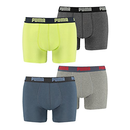 Puma Herren Basic Boxer Boxershort 4er Pack puma team royal (561) / purple peacoat (766)