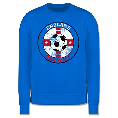 EM 2016 - Frankreich - England Kreis & Fußball Vintage - Herren Premium Pullover Himmelblau