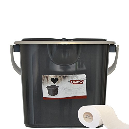 Mobile Toilette Campingtoilette Eimertoilette Reisetoilette Outdoor Grau 15,5 L