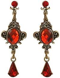 Trachtenschmuck Dirndl Gothic Ohrstecker - ornamentales Design - Ohrringe Light Siam Rot