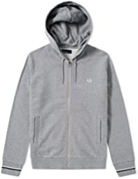 Sweat Zippé Capuche Fred Perry Gris