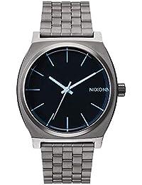 Nixon Herren-Armbanduhr Time Teller Gunmetal / Blue Crystal Analog Quarz Edelstahl A0451427-00
