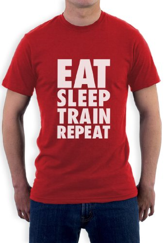 EAT SLEEP TRAIN REPEAT T-Shirt Rot