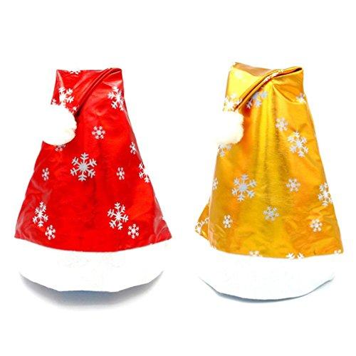 BURFLY Baby Hut Weihnachten Schneeflocke Hut, 2pcs Weihnachtsfest Santa Hut Kappe für Santa Claus Kostüm (Adult und Kind, (Kostüme Erwachsene Claus Santa Shirt)