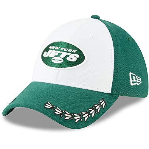 pretty nice f46be 00258 New Era New York Jets 39thirty Stretch Cap Nfl19 Draft Green - M - L