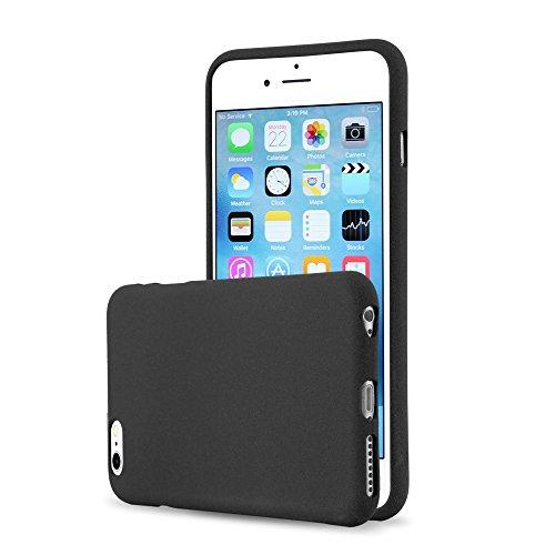 Cadorabo - Custodia 'Frost' de silicone TPU con colori opachi per Apple iPhone 6 PLUS super sottile - Case Cover Involucro Bumper in FROST-NERO