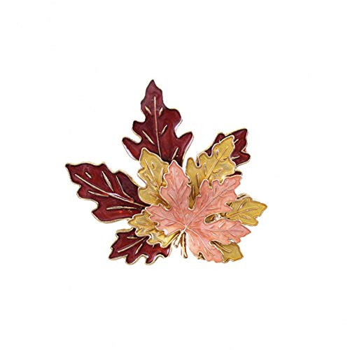 MYHMG Brosche Exaggerated Drop Glaze Three-Layer Maple Leaves Brooch Fine Beauty Accessories Personalized Boutonniere - Kirsche Drop-leaf