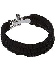 SODIAL (R) 7 Strand survie Weave militaire Bracelet cordon boucle - Noir