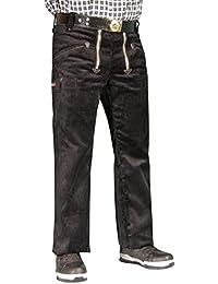 OYSTER TrenkerCord Zunft-Hose Arbeits-Hose - 50255 - breite Rippe - schwarz - Größe: 27