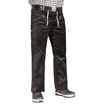 OYSTER TrenkerCord Zunft-Hose Arbeits-Hose - 50255 - breite Rippe - schwarz - Größe: 23