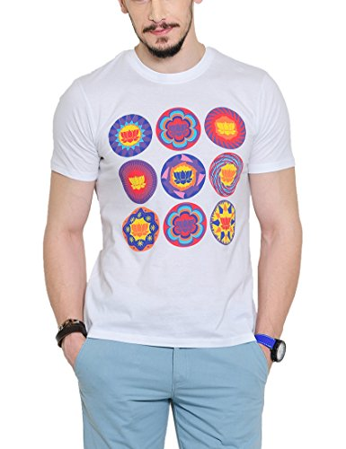 Yepme Men's White Graphic T-shirt -YPMTEES0247_S  available at amazon for Rs.179