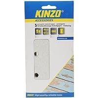 Kinzo 71721 5 Feuilles Papier abrasif pour décapage peinture 93 x 187 mm G80