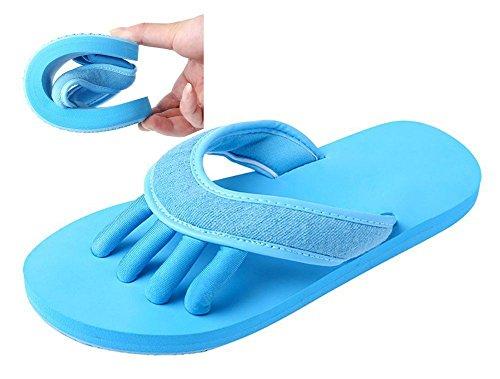 Slip-on Yaga Pantofole Toe separatori doccia sandali da spiaggia mule antiscivolo Sole Ciabatte da piscina bagno Slide per adulti blu