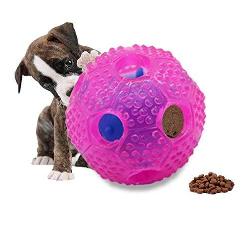 Aeromdale 7 cm Funny Pet Food Spender Spielzeug Ball Hund Katze Spielzeug Ball Training Hunde Lebensmittel Spender Langlebig Kauen Spielzeug Geschenk für Haustiere -