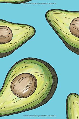 Avocado Notizbuch: Tagebuch / Notizbuch mit Avocado Bild als Motiv - 120 Seiten a5