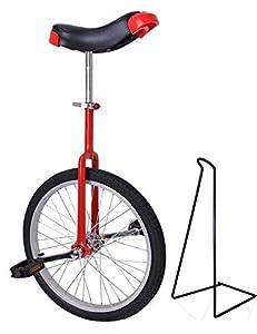 Funsport Einstellbares Einrad 18 Zoll Mit Ständer Rot