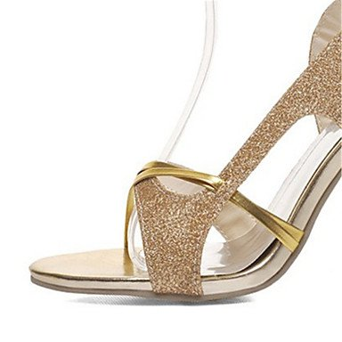 LvYuan Da donna-Sandali-Serata e festa Formale Casual-Club Shoes-A stiletto-Lustrini Materiali personalizzati-Argento Dorato Gold