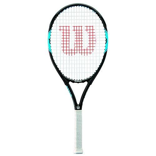 Wilson Tennisschläger, Monfils Power 105, Unisex, Anfänger und Freizeitspieler, Griffstärke L2, Blau/Navy, WRT57190U3