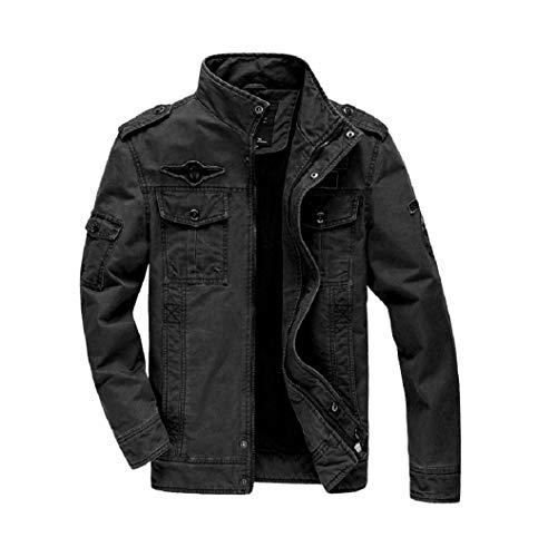 VADOOLL Herrenjacken Parka Jacke Militär Jacke Freizeitjacke Übergangsjacke Feldjacke Baumwolle Pilotenjacke für Frühling & Herbst