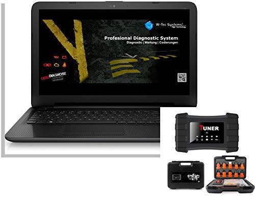 W-Tec Systems Profi Diagnose Laptop, LKW Diagnose Gerät PRO-8450 HTX, OBD2 BT KFZ Universal Fast alle LKW mit Tiefendiagnose - ABS AIRBAG Motor PDC DSC CODIERUNG