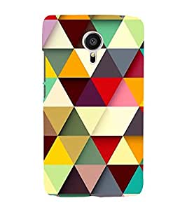 Multicoloured Triangular Pattern 3D Hard Polycarbonate Designer Back Case Cover for Meizu MX5 :: Meizu Mx 5
