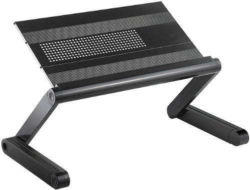General Office Laptop Tisch: Hochflexibler Alu-Arbeitstisch für Notebook, Tablet etc (Notebooktisch) - Cd-ablage Tisch
