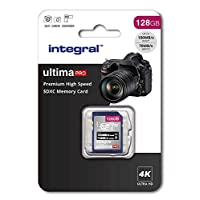 128Gb SD Card 4K Ultra-HD Video Premium High Speed Memory Card SDXC Up To 100MB/S V30 UHS-I U3 C10, by Integral
