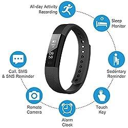 LETSCOM Fitness-Tracker, Fitness-Tracker, Armbanduhr mit schlankem Touchscreen und Armbändern, tragbarer Aktivitätstracker als Schrittzähler, Schlafüberwachung