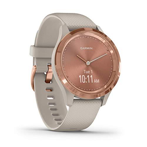 Garmin vívomove 3S - schlanke, stilvolle Hybrid-Smartwatch mit analogen Zeigern & OLED-Display für schmale Handgelenke, Sport-Apps & Fitness-/Gesundheitsdaten, wasserdicht, 5 Tage Akkulaufzeit
