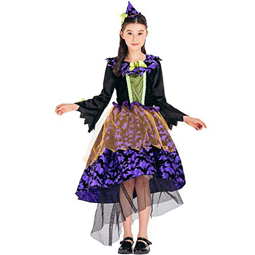 Günstige Burlesque Outfits - QAQBDBCKL Kid Mädchen Halloween Hexe Kostüm