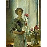 GFM Painting - Riproduzione fatta a mano di Pittura ad Olio. Soggetto:June About 1911,Pittura ad Olio di John White Alexander - 72 By 96 pollici