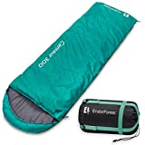 Endor Forest 3 Season, Single Envelope Travel Sleeping Bag for Outdoor Camping