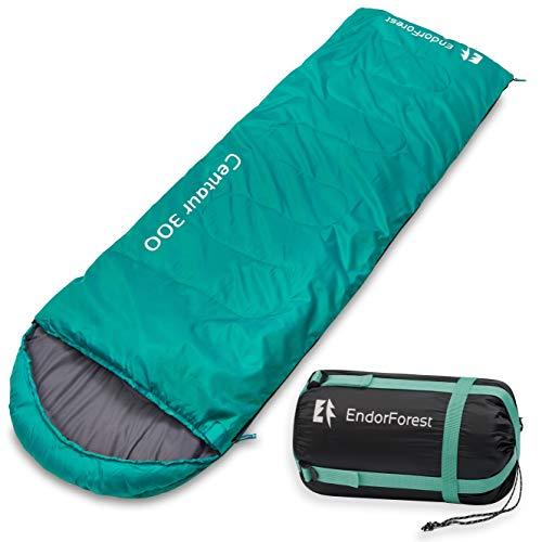 Endor Forest Schlafsack für Outdoor, Camping, Reise - 3-4 Jahreszeiten - Schlafsack für Kinder und Schlafsack für Erwachsene - Leicht, kompakt und wasserdicht - Hohe Qualität für komfortablem Schlaf