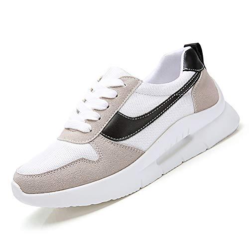 Frauen Flache Sneakers Wildleder SchnüRung NäHen Tuch Mesh Flats Creeper Gestreifte Sohle Damen Komfortable Dad Schuhe