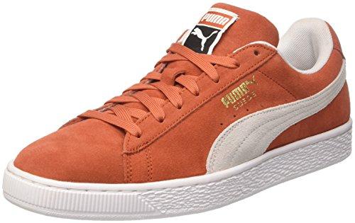 Puma Unisex-Erwachsene Suede Classic Sneaker, Rot (Burnt Ochre White), 41 EU